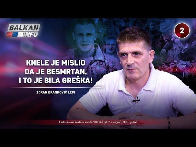 INTERVJU: Zoran Branković Lepi – Knele je mislio da je besmrtan i to je bila greška! (26.8.2018)